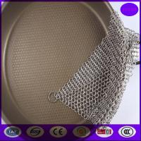 Wholesale 6X8 Inch Kitchen Pot Brush Cast Iron Stainless Steel Chainmail Scrubber Cleaner from china from china suppliers