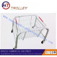 Wholesale 22L Chrome Plated Double Handle Folding Shopping Basket , Metal Wire Storage Baskets from china suppliers