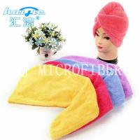 Wholesale Colorful Microfiber Coral Fleece Hair Turban Hair Drying Cloth Super Absorption from china suppliers