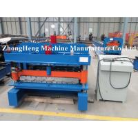 Wholesale European Style Glazed Tile / Double Layer Roll Forming Machine For Partial Arc Color Steel Roof Tile from china suppliers