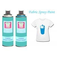 Quality BlackFabricSprayPaintAcrylicSprayPaint For Clothing / Shoes UV Resistant for sale