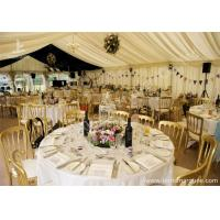 Wholesale Fixable Temporary 10x21m Alumminum Frame Luxury Wedding Tents With Lining Decorations from china suppliers