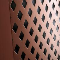 Wholesale pvc coated diamond hole perforated metal from china suppliers