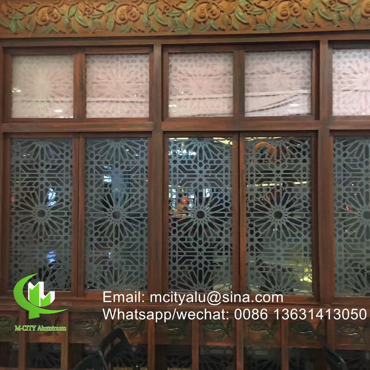 Wholesale Aluminum perforated sheet for window screen room divider fence with 2mm thickness laser cut screen from china suppliers