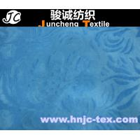 Wholesale Brushed blue flower short pile velboa fabric velour for sofa upholstery polyester from china suppliers