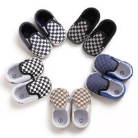 Buy cheap Hot sale Canvas Checkered breathable 0-2 years slip on infant baby boy shoes from wholesalers