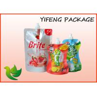 Wholesale Bottom Gusset Juice Pouch bag , Liquid Fruit Juice Soup Packaing from china suppliers