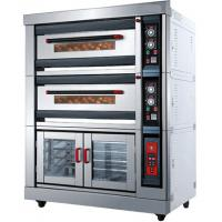 Wholesale Custom 3.7KW Deck Commercial Gas Pizza Oven Stainless Steel Material from china suppliers