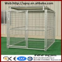 Wholesale Heavy duty 6'x8'x6' small animals houses waterproof pug cages galvanized metal welded dog run kennels from china suppliers