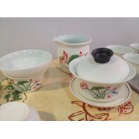 Wholesale Snow glaze enamel ceramic glaze porcelain enamel lotus style tea sets pots from china suppliers