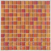Wholesale Iridescent Crystal Glass Mosaic Tile, 23x23mm Kitchen Mosaic Wall Tiles from china suppliers