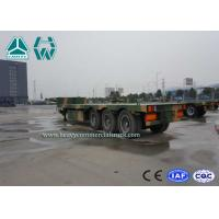 Quality 40 Feet Hydraulic Low Bed Semi Trailer 60 Ton With 4 Axle Camouflage Paint for sale