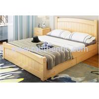 Quality Modern Apperance King Size Pine Bed , Single Wooden Frame Beds With Drawers for sale