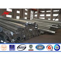 Wholesale HDG 32M 20 KN Electric Steel Power Poles 5mm 3 Sections with Cross Arms from china suppliers