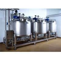 Pasteurized Milk Processing Line , Cheese Production Line ISO Approved