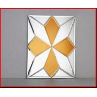 Wholesale Decorative Mirrors Beveled  Spell Mirror Glass on Glass Mirror yellow flower mirrors from china suppliers