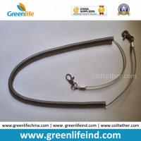Wholesale Heavy Duty High Pulling Wire Inside Plastic Spring Coiled Lanyard from china suppliers