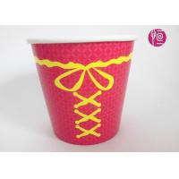 Single Wall Disposable Take Away Paper Plant  Pot Red Color 34 Ounce