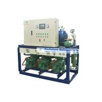 Quality R404a Bitzer refrigeration compressor unit for -18℃ lamb cold storage with PLC auto control system for sale