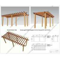 Wholesale WPC waterproof pergola 23ft.*10ft.*8.5ft.(OLDA-5006) series color for choose with customized size from china suppliers