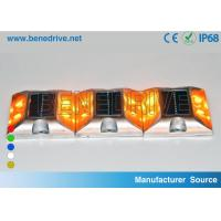 Wholesale Square Solar Barricade Lights Aluminum Alloy Housing Double Sides LED Flashing With Reflectors from china suppliers