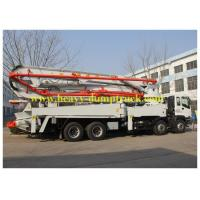 Wholesale Concrete Pump Trailer48m boom with HOWO chassis and ISO / BV from china suppliers