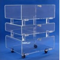 Wholesale High Strength Perspex Restaurant Trolley/Acrylic Plexiglass Dining Car from china suppliers