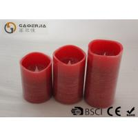 Quality No Flame Candles With Batteries , Flameless Wax Candles Red Color for sale