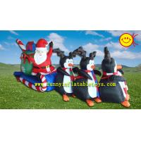 Wholesale Christamas Events Advertising Inflatable Santa Claus ,  Polyester Cloth Holiday Inflatables from china suppliers