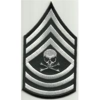 Wholesale Master Sergeant Death Skull Arm Rank Insignia Biker Morale Military Iron On Patch from china suppliers