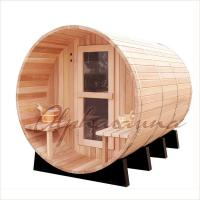 Wholesale Outdoor Dark Red Cedar Spas And Hot Tubs Bath Barrels , home spas and hot tubs from china suppliers