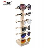 Quality Countertop Colorful Waterproof Acrylic / Wood Sunglasses Display Rack for sale