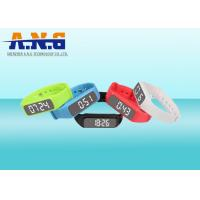 Wholesale Multifunction Hf Rfid Tags , Custom Printed Silicone Rfid Wristbands With Led Pedometer from china suppliers