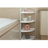 Wholesale Mobile Bathroom Corner Storage Shelves , Adjustable Plastic Corner Shelf Multiple Function from china suppliers