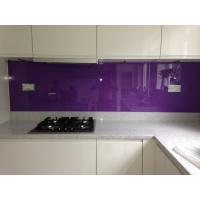 Wholesale Kitchen Violet Painted Glass Backsplash Easily Clean The Stains from china suppliers
