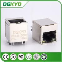 Wholesale RJ45 Gigabit Magnetic Jack, TOP ENTRY, Metal shielded, GREEN YELLOW LEDS from china suppliers