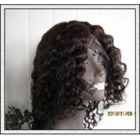 Buy cheap Deep Wave 1b Malaysian Curly Hair/ Full Lace Wig from wholesalers
