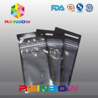 Wholesale See Through Logo Printing Headset / Earphone Packaging Bags / Pouch With Ziplock from china suppliers