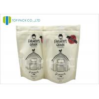 Wholesale Recyclable Printed Stand Up Bags , 500g Zipper Stand Up Food Matte Window from china suppliers