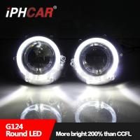Wholesale High quality auto parts super bright led light guide angel eyes 3.0 inch hid projector lens for H4 car kits from china suppliers