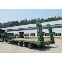Wholesale Low-bed Semi Trailer Truck 3 Axles 60Tons 15m for Loading construction machine from china suppliers