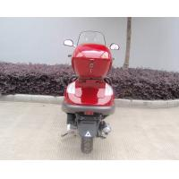 Two Headlights Blue Adult Gas Scooter , 150cc Motor Scooter With 2 Seats Real Leather