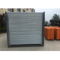 Wholesale Construction Site Fence panels as4687-2007 standard 2100mm x 2400mm QLD brisbane OD 32mm x 1.40mm,1300 temp  fence from china suppliers