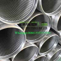 Wholesale All-welded stainless steel continuous slot water well screens from china suppliers