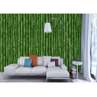Wholesale 3D Kids Room Country Style Wallpaper , Nature Bamboo Pvc Embossed Vinyl Wallpaper from china suppliers