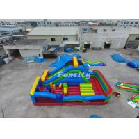 Quality Customized Inflatable Obstacle Castle Size 9m*5m*5m With 0.55 Mm Pvc Tarpaulin for sale