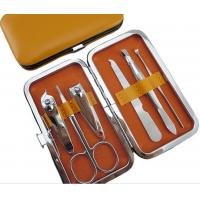Wholesale Yellow 6 PCS Stainless Steel Manicure Pedicure Set Personal Care Tools from china suppliers