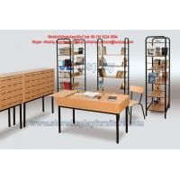 Wholesale Library Furniture in Metal display with wood Shelf racks and wood drawers of cabinet from china suppliers