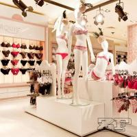 Wholesale Wooden fixtures design unique underwear shop decoration from china suppliers