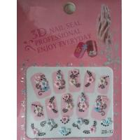 Wholesale Girls 3D Flowers Nail Art Decals , Health french nail stickers from china suppliers